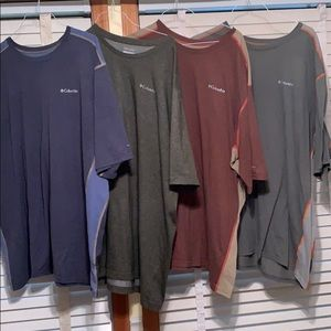 Men's Columbia T-shirts Size 4XT Bundle of 4